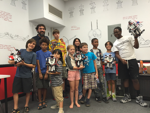 The bots that BK Bots students built during its summer camp session this past August. Photo: Bk Bots