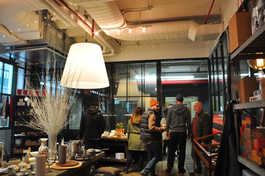 Nestled deep in the Food Hall you'll find the Industry City store, curated by WantedDesign. Sort through selections of peacock pillows, witty greeting cards, sleek kitchenware, and other home goods designs by companies like Hudson Made, Juniper Design, and Brooklyn Candle Studio.