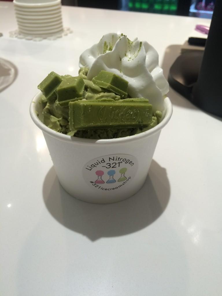 The green tea flavor comes with green tea Kit Kats and is a menu staple. Photo: Eleheh Nozari