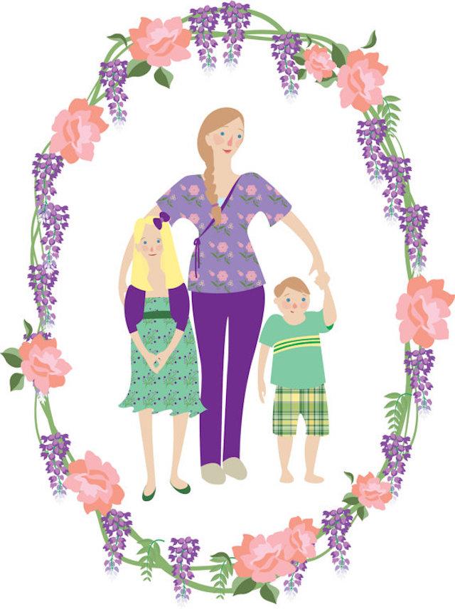 These illustrations breathe fresh air into the standard family photo. Photo: Caitlin Rain