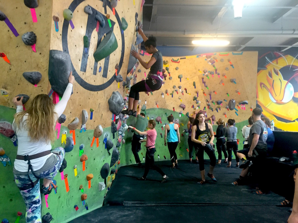 Climbers report a feeling of community you don't get from a regular gym. Photo: Kathleen Wong