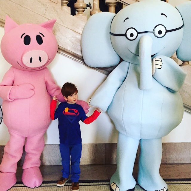 Not your average Times Square characters: Elephant and Piggie will delight your little Mo Willems fans. Photo: Meredith Craig de Pietro