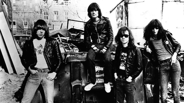 Danny Fields, Ramones in alley behind CBGB, 1977. Photograph courtesy the artist
