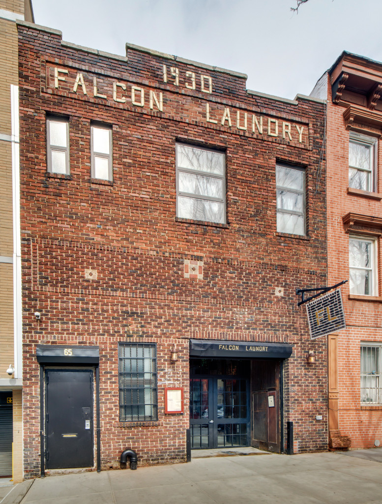 Falcon Laundry, the name is in the facade. Photo: Oleg March
