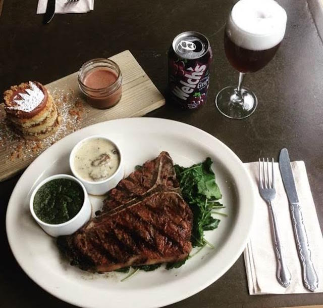 Eat a T-bone for Biggie at Sweet Chick on Saturday. Photo: Sweet Chick