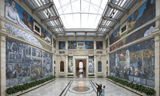Diego Rivera's Detroit Industry mural at the DIA. (Courtesy the Detroit Institute of Arts)