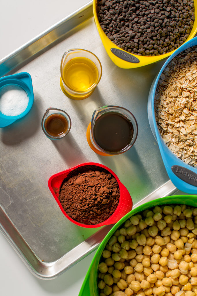 Raw ingredients sit measured and ready to become brownies. Photo: Spencer Starnes
