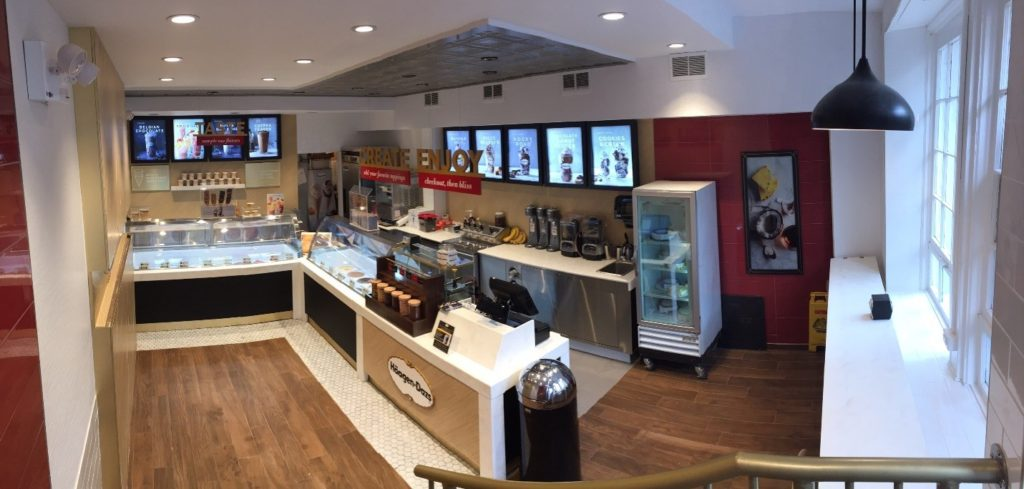 The Brooklyn Heights Häagen-Dazs shop was the nation's first and is celebrating a grand reopening on Saturday with free cones. Photo: Häagen-Dazs