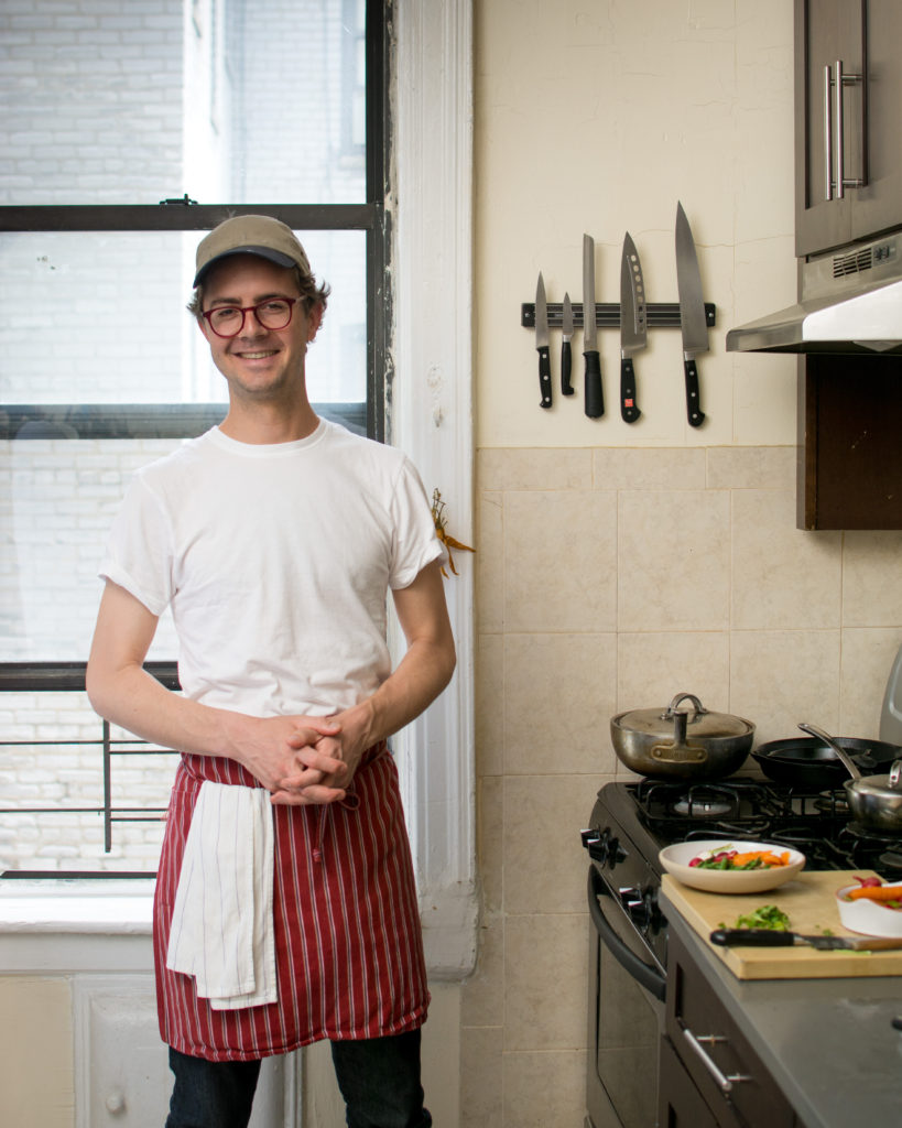 Lukas Volger develops recipes in his kitchen south of Prospect Park. Photo: Spencer Starnes