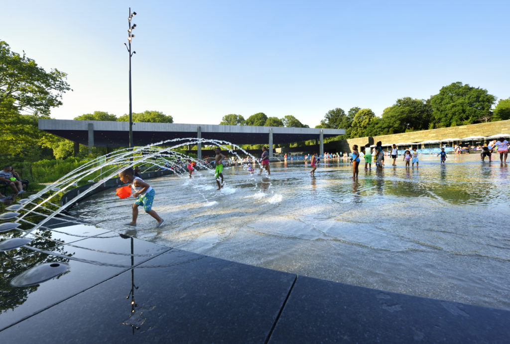 The splash pad at LeFrak Center at Lakeside is a pretty sweet spot in the summer. Photo: Prospect Park Alliance