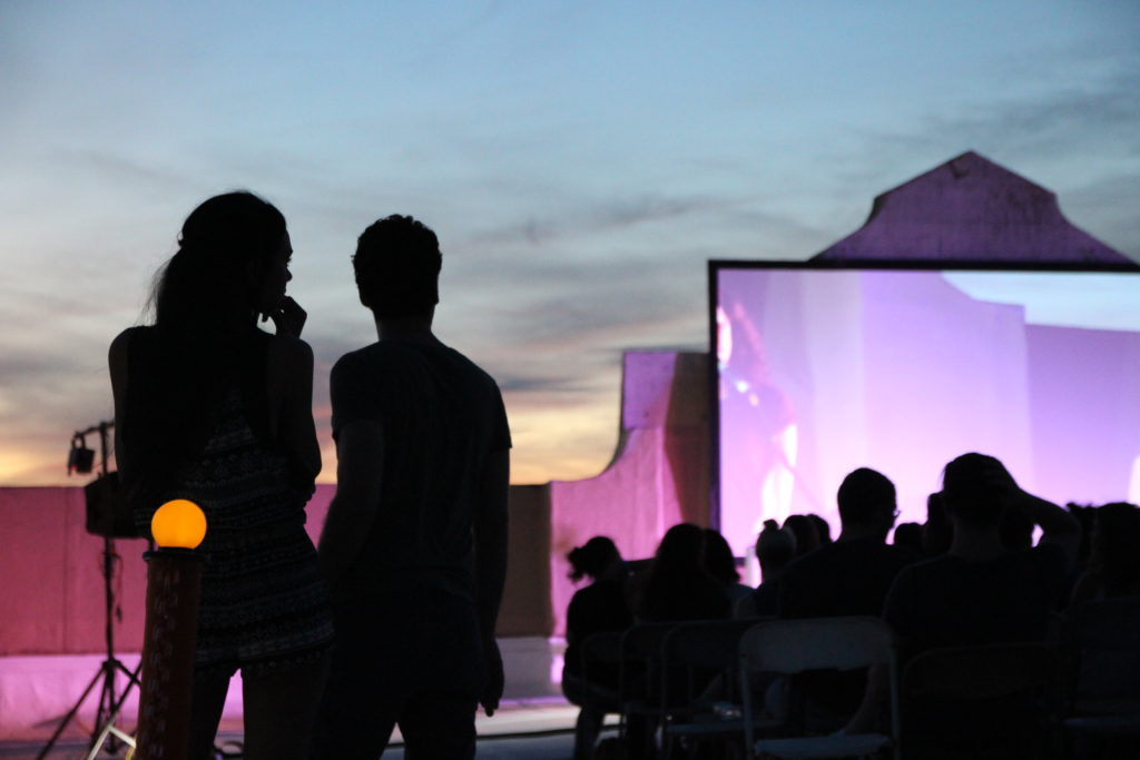 Rooftop Films started showing movies at Industry City in 2015. Photo: Ethan Judelson