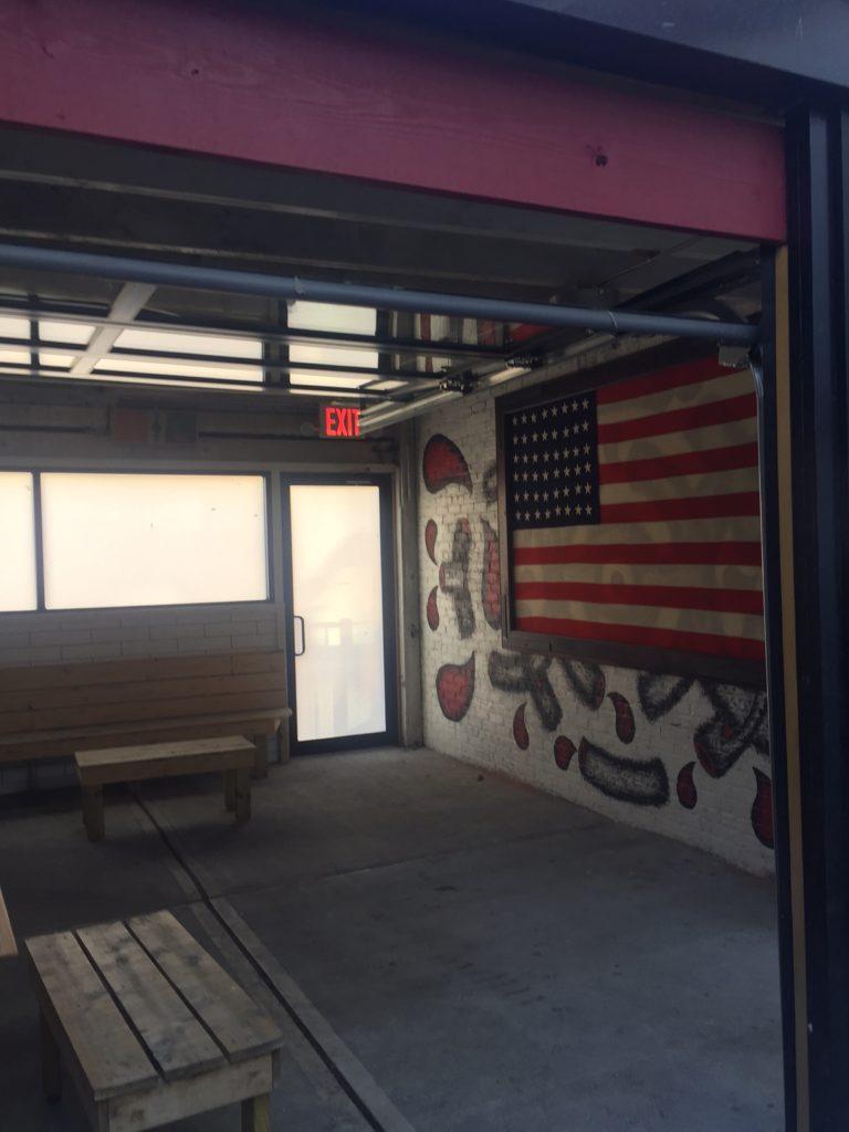 The Starliner's backyard includes a garage converted to an indoor-outdoor space. Photo: Ellen Killoran