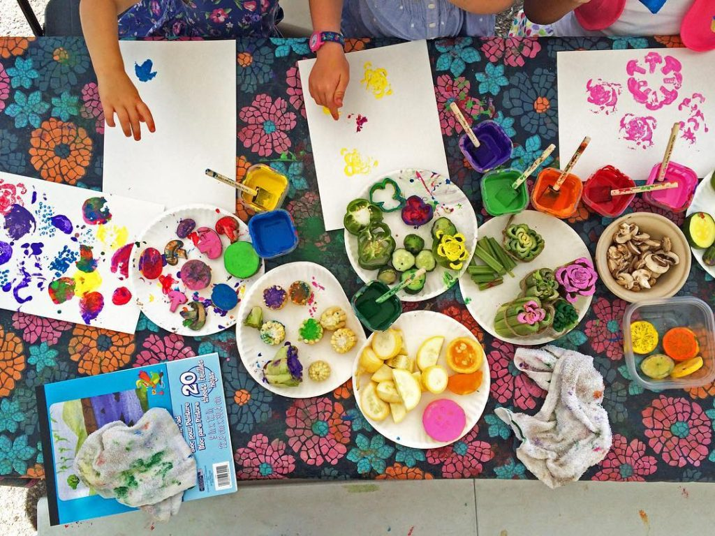 We want you to play with your food at One More Bite! Private Picassos is just one of the participants that will be encouraging kids to. Photo: Shellburne Farms