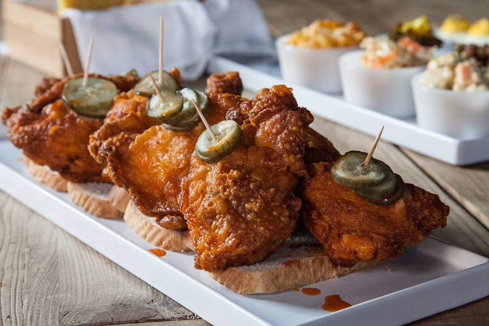 Carla Hall's hot chicken goes all the way up to six. Photo: Carla Hall's Southern Kitchen
